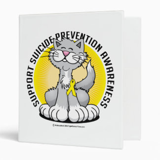Paws for Suicide Prevention Cat Vinyl Binders