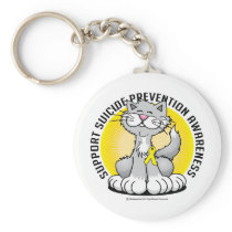 Paws for Suicide Prevention Cat Keychain