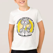 Paws for Suicide Prevention Cat T-Shirt