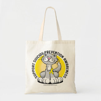 Paws for Suicide Prevention Cat Tote Bag