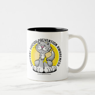 Paws for Suicide Prevention Cat Two-Tone Coffee Mug