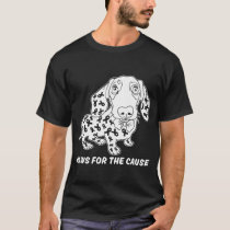 paws for the cause dog animal sad breast cancer T-Shirt