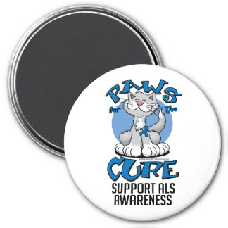Paws for the Cure ALS Cat 3 Inch Round Magnet