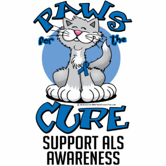 Paws for the Cure ALS Cat Cutout