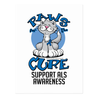 Paws for the Cure ALS Cat Postcard