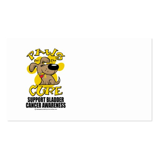 Paws for the Cure Bladder Cancer Business Card