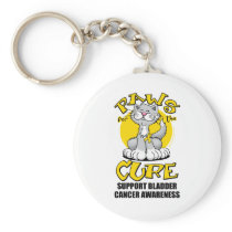 Paws for the Cure Bladder Cancer Cat Keychain