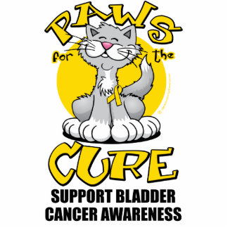 Paws for the Cure Bladder Cancer Cat Acrylic Cut Out