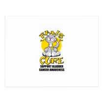 Paws for the Cure Bladder Cancer Cat Postcard
