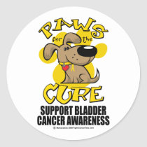 Paws for the Cure Bladder Cancer Classic Round Sticker