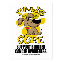 Paws for the Cure Bladder Cancer Postcard