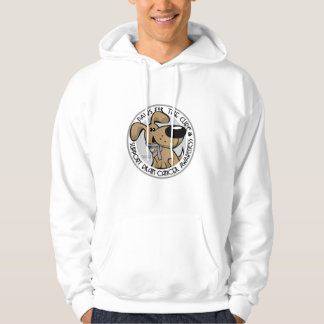 Paws for the Cure Brain Cancer Hoodie