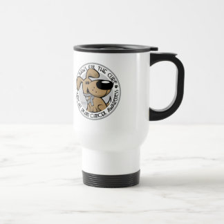 Paws for the Cure Brain Cancer Travel Mug