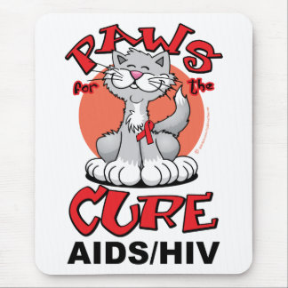Paws for the Cure Cat AIDS Mouse Pad