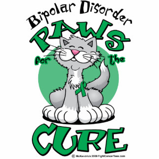 Paws for the Cure Cat Bipolar Disorder Cutout