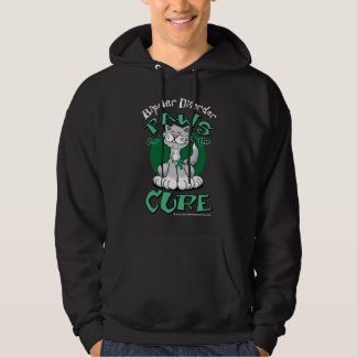 Paws for the Cure Cat Bipolar Disorder Hoodie