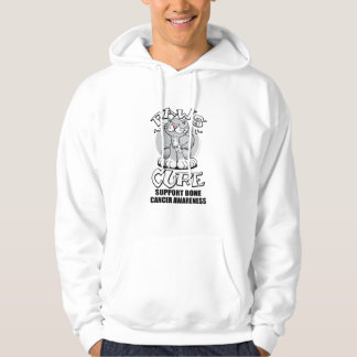 Paws for the Cure Cat Bone Cancer Hoodie