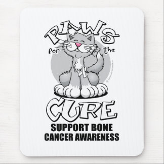 Paws for the Cure Cat Bone Cancer Mouse Pad