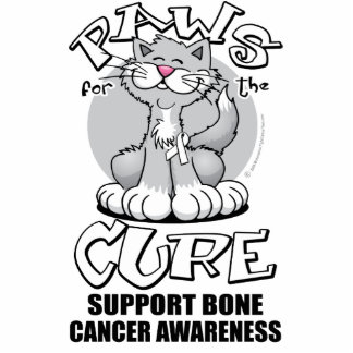 Paws for the Cure Cat Bone Cancer Photo Cutouts