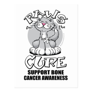Paws for the Cure Cat Bone Cancer Postcard
