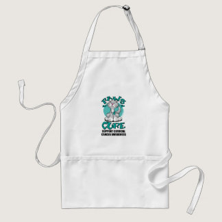Paws for the Cure Cat Cervical Cancer Adult Apron