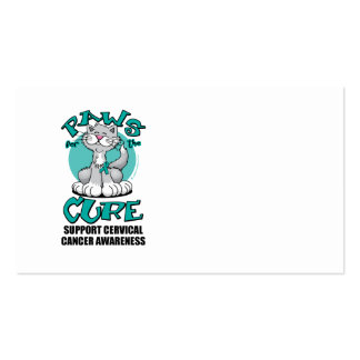 Paws for the Cure Cat Cervical Cancer Double-Sided Standard Business Cards (Pack Of 100)