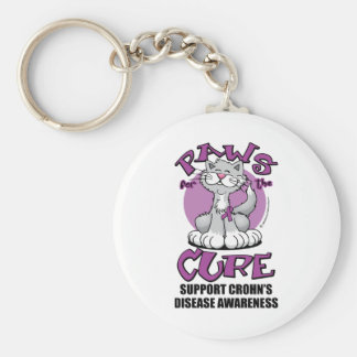 Paws for the Cure Cat Crohn's Disease Keychain