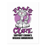 Paws for the Cure Cat Crohn's Disease Postcards
