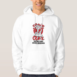 Paws for the Cure Cat Heart Disease Hoodie