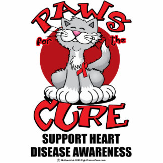 Paws for the Cure Cat Heart Disease Statuette