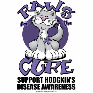 Paws for the Cure Cat Hodgkin's Disease Cutout