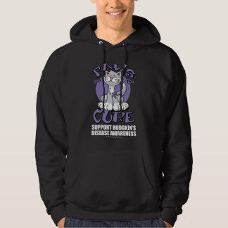 Paws for the Cure Cat Hodgkin's Disease Hoodie