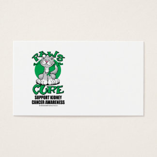 Paws for the Cure Cat Kidney Cancer Business Card
