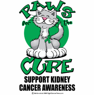 Paws for the Cure Cat Kidney Cancer Acrylic Cut Out