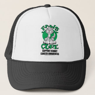 Paws for the Cure Cat Kidney Cancer Trucker Hat