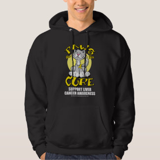 Paws for the Cure Cat Liver Cancer Hoody