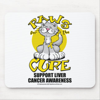 Paws for the Cure Cat Liver Cancer Mouse Pad