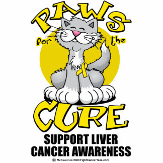 Paws for the Cure Cat Liver Cancer Acrylic Cut Outs