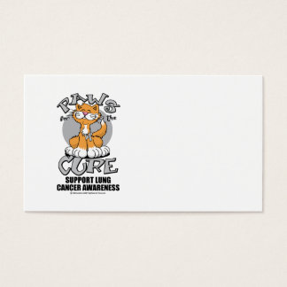 Paws for the Cure Cat Lung Cancer Business Card