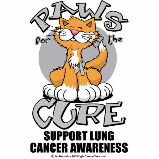 Paws for the Cure Cat Lung Cancer Photo Cut Outs