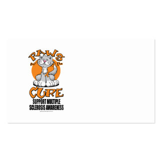 Paws for the Cure Cat Multiple Sclerosis Business Card