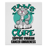 Paws for the Cure Cat Ovarian Cancer Posters