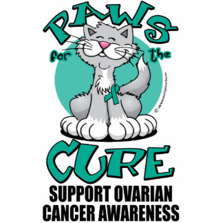 Paws for the Cure Cat Ovarian Cancer Statuette