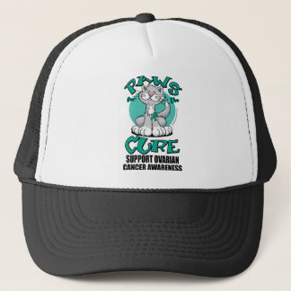 Paws for the Cure Cat Ovarian Cancer Trucker Hat