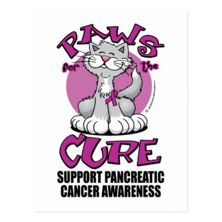 Paws for the Cure Cat Pancreatic Cancer Postcard