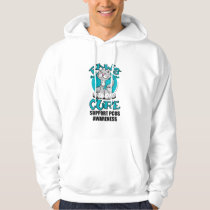 Paws for the Cure Cat PCOS Hoodie