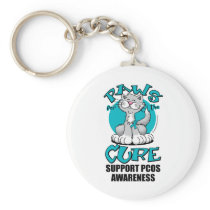 Paws for the Cure Cat PCOS Keychain
