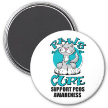 Paws for the Cure Cat PCOS Magnet