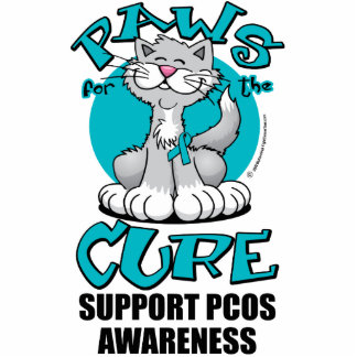 Paws for the Cure Cat PCOS Statuette
