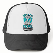 Paws for the Cure Cat PCOS Trucker Hat